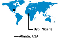 Ace Web Solutions Worldwide Locations (Atlanta USA and Uyo Nigeria)